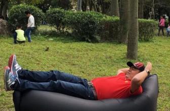 Надувной диван-гамак